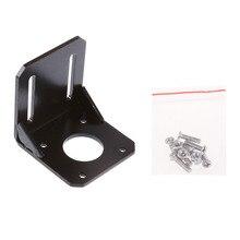 LHLL-Mounting Bracket for Nema 17 Stepper Motor (Geared Stepper) CNC/3D Printer Black(China (Mainland))