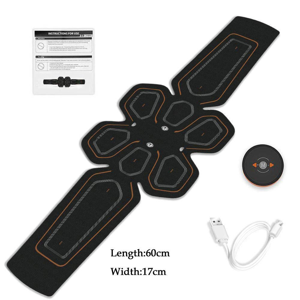 EMS ABS Trainer Abdominal Electro Stimulator Electrostimulation USB Charged Fitness Home Workout Gym Muscle Toning Belts (1)