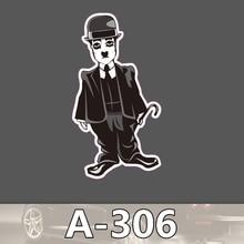 EIN-306 Chaplin Wasserdicht Mode Kühle DIY Aufkleber Für Laptop Gepäck Skateboard Kühlschrank Auto Graffiti Cartoon Aufkleber