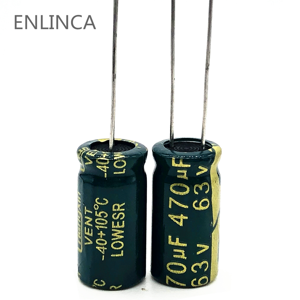 4pcs/lot S11 High Frequency Low Impedance 63v 470UF Aluminum Electrolytic Capacitor 470UF 20%