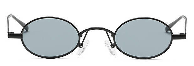 f2a43c29f4 2018 Trending Sexy Women Small Oval Sunglasses Men Steampunk Shades Fashion  Metal Frame Black Sun Glasses