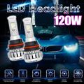 Для Philips Chip 120 Вт 12000LM Автомобилей СВЕТОДИОДНЫЕ Фары Лампы Ошибка Бесплатный Canbus 6000 К Белый 9007 9006 H4 H7 Авто Лампы Супер яркий