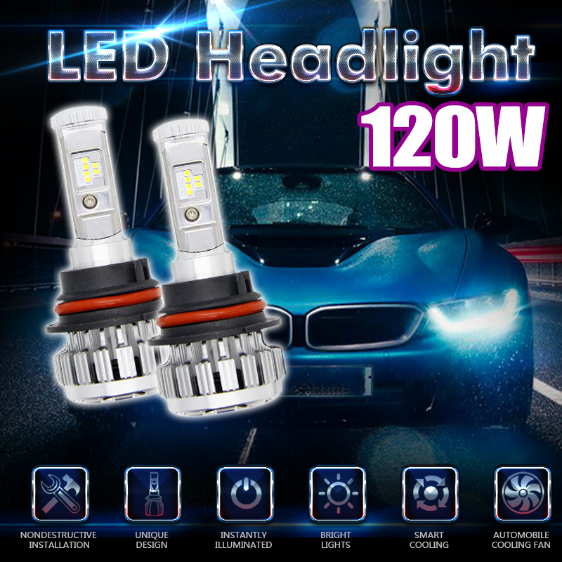 ФОТО For Philips Chip 120W 12000LM Car LED Headlight Bulbs  Error Free Canbus 6000K White 9007 9006 H4 H7 Auto Lamp Bulb Super Bright