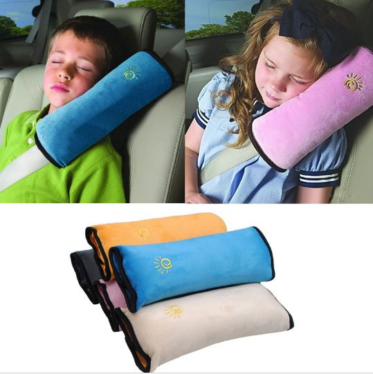 Baby Pillow Car Safety Belt & Seat Sleep Position Protect Shoulder Pad Adjustable Vehicle Seat Cushion for Kids Baby Playpens