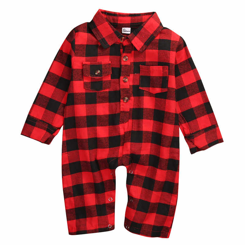 dea2a292580b Detail Feedback Questions about Emmababy 2017 Infant Newborn kids Baby Boy  girl Clothes red Plaid Shirt style Romper Long Sleeve bebe Jumpsuit  Playsuit ...