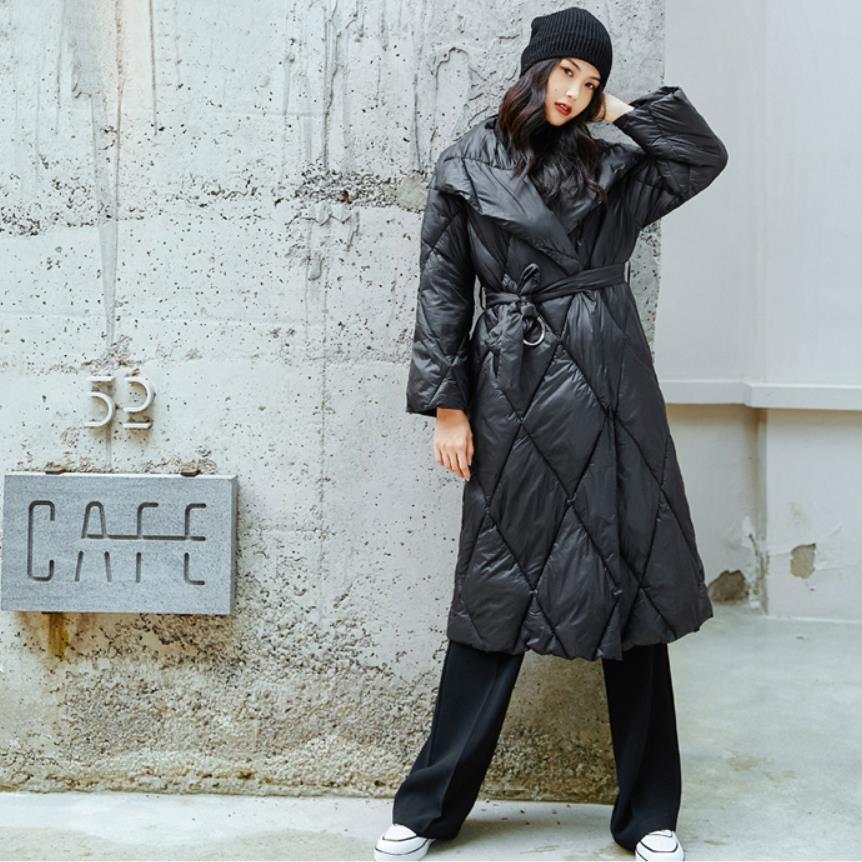 À Mode Coton Revers Bas De Manteau Le Femelle Couverture Grand Wq783 En Boutons Black Ceinture Marque D'hiver Col Chaud Plus Avec Nouveauté Hiver Vers pqfHFt