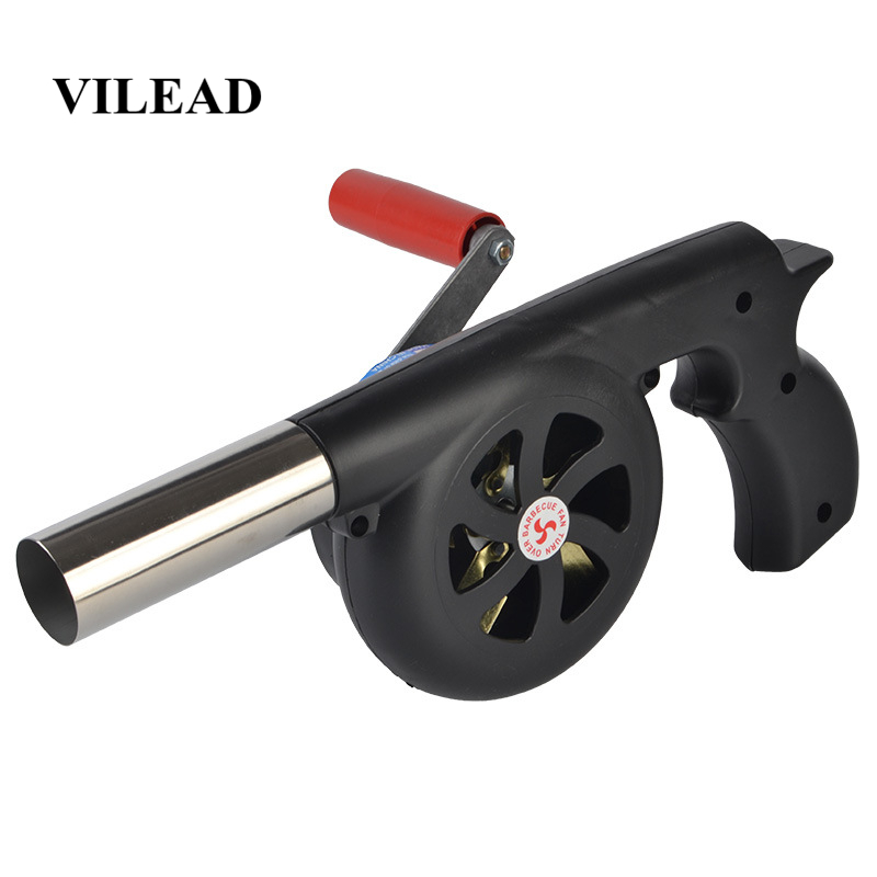 VILEAD 29 cm Length Outdoor Cooking Air Blower Hand Crank For BBQ Fire Bellows Tool for Picnic Camping stove accessories Fan-in Outdoor Stoves from Sports & Entertainment