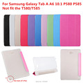 Ultra thin Flip Cover For Samsung Galaxy Tab A A6 10.1 P580 P585 Cover funda cases Smart Cover PC clear back cover+Film+Pen+OTG
