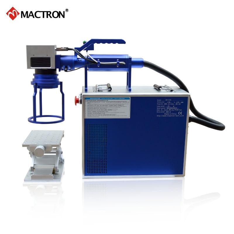 Macchina portatile per marcatura laser a fibra 20W per stampa su - Attrezzature per la lavorazione del legno - Fotografia 4