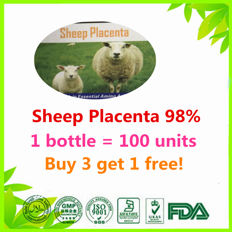 все цены на (Buy 3 Get 1 Free)Natural Sheep Placenta 98% 100 units New Costar