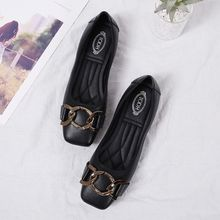 Europe Brand 2019 Women Shoes Ballet Flats Loafers Woman Fashion Square Casual Shallow Low Cut Soft Bottom High Quality