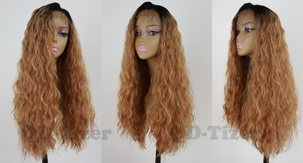 qd-tizer loose wave synthetic lace front wig