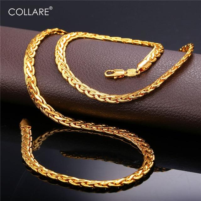 Collare Snake Link Chain For Men GoldBlackRose GoldSilver Color