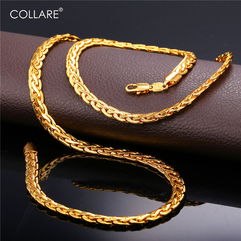 Collare Snake Link Chain For Men Gold/Black/Rose Gold/Silver Color African Chain Necklace Wholesale Men Jewelry N215
