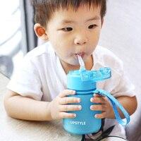 QuickDone 300 ML BPA Livre Crianças Crianças Matagal Garrafa De Água com Palha À Prova de Vazamento Portátil Garrafa de Água de Plástico Handgrip KC1609