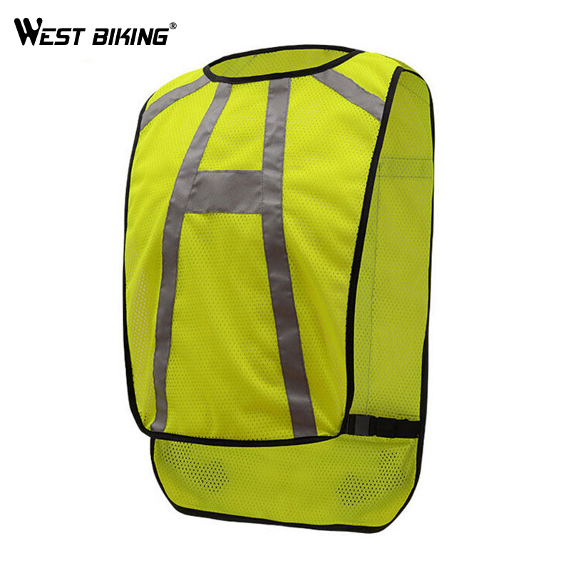 WEST BIKING Reflective Cycling Vest Cycling Jersey Safety Warning Night  Riding Clothing Protective Jersey Bicycle Bike Vest ed2ea0f80a0d1