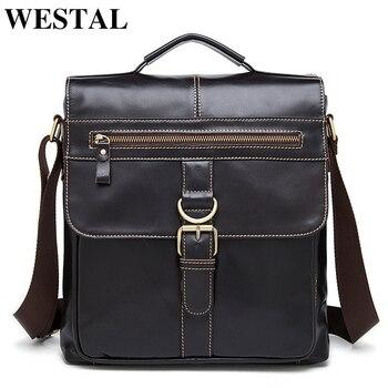 WESTAL bolsos de hombro para hombre, bolso de cuero genuino para hombre, bolsos de bandolera para hombre, bolsos de cuero para hombre 1292