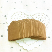 Hot Vintage Kraft Paper Gift Cards Tags Label with Swirl Edges for Wedding Decoration DIY Card Making Scrapbooking Crafts