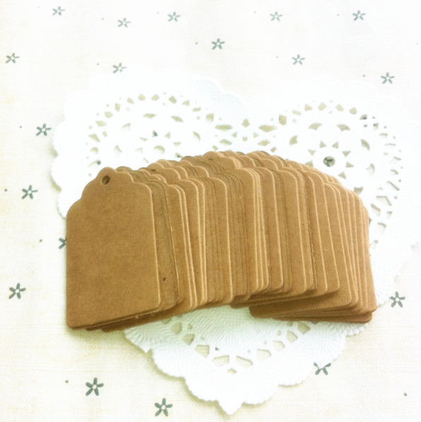 Hot Vintage Kraft Paper Gift Cards Tags Label with Swirl Edges for Wedding Decoration DIY Card Making Scrapbooking Paper Crafts