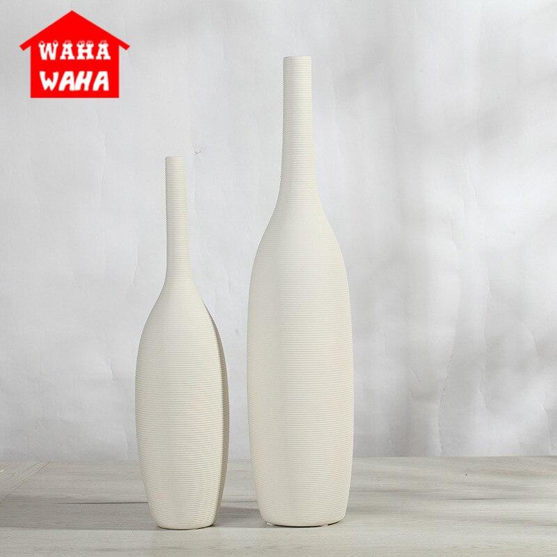 1 Stücke Chinesischen Porzellan Nordic Moderne Keramik Weiß Vase Ornamente Kreative Heimat Dekoration Tabletop Vase Handgemachte Handwerk