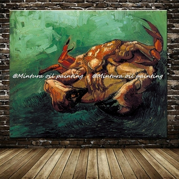 Big Size Handmade Reproduction A Crab On Its Back By Vincent Van Gogh Painting Museum Quality Animal Oil Painting On Canvas
