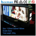 Leeman 5mm Pixels and Outdoor Usage high brightness double sides led taxi top sign,6mm double sided wireless taxi roof led