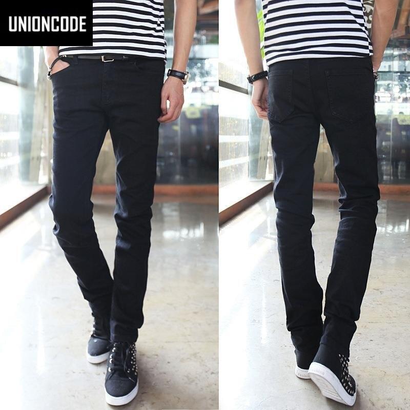 Basic Styles Mens Jeans Stretch Classic Black Denim Mens Pants Casual Fashion Slim Fit Jeans Size 27-36 919 цены онлайн