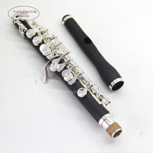 Advanced piccolo c key silver plated nice sound composite wood  Body made of plastic and ebony powder  1pcs
