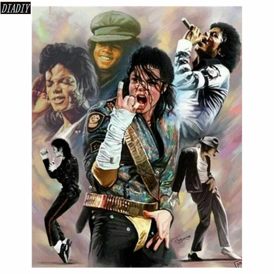 full round square diamond embroidery famous singer diamond painting Michael Jackson mosaic bead picture of rhinestone