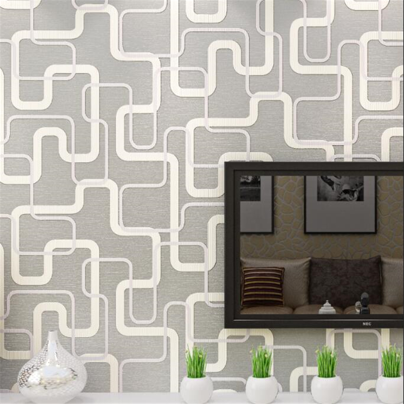 Beibehang Geometric pattern embossed wallpaper living room television background wall full house wallpaper papel de parede beibehang classic fashion simple striped living room papel de parede wallpaper background wall full flocking nonwoven wallpaper