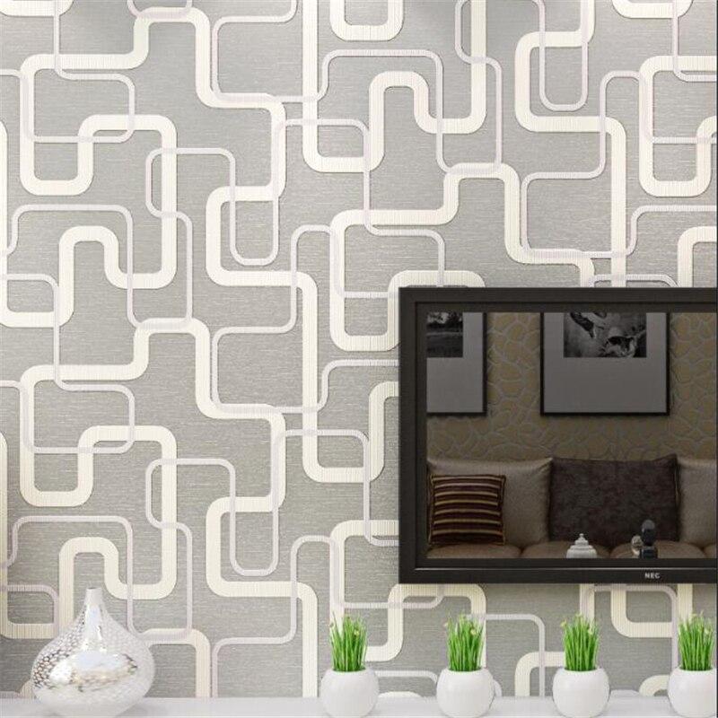 Beibehang motif géométrique en relief papier peint salon télévision fond mur pleine maison papier peint papel de parede