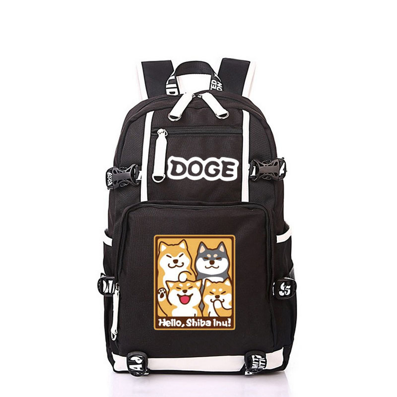 Women Men Anime Cute Dog Shiba Inu Doge Backpack Rucksack Mochila Schoolbag Bag For School Boys Girls Student Travel anime cartoon tokyo ghoul cosplay backpack schoolbag one piece gintama school bag rucksack men s women s naruto travel bag