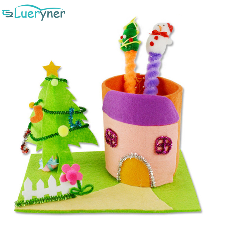 Pipe Cleaner Christmas Trees.Hot Sale Christmas Tree Pen Container With Chenille Stems