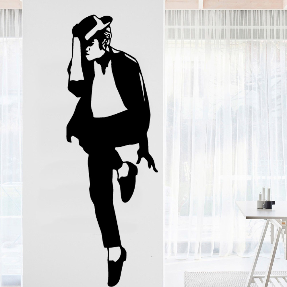 Michael Jackson Wall Stickers Wallpaper Vinyl Removable Decor For Kids Rooms Decoration Decal Murals