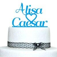 Personalized Name Cake Topper Monogram Wedding Cake Topper Cake Toppers For Weddings Cake Party Decoration Gift