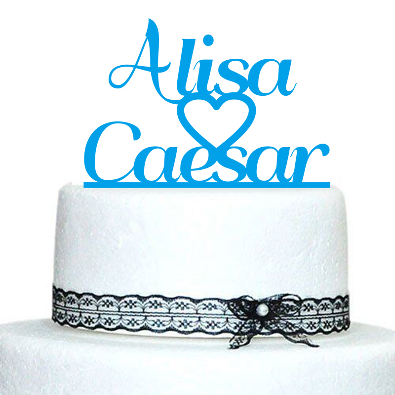 buythrow personalized name wedding cake topper sale customize cake decoration for
