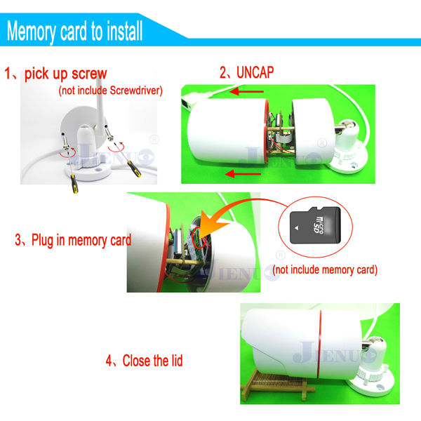 IP camera wifi 720P cctv sistem de securitate wireless micro sd card - Securitate și protecție - Fotografie 5