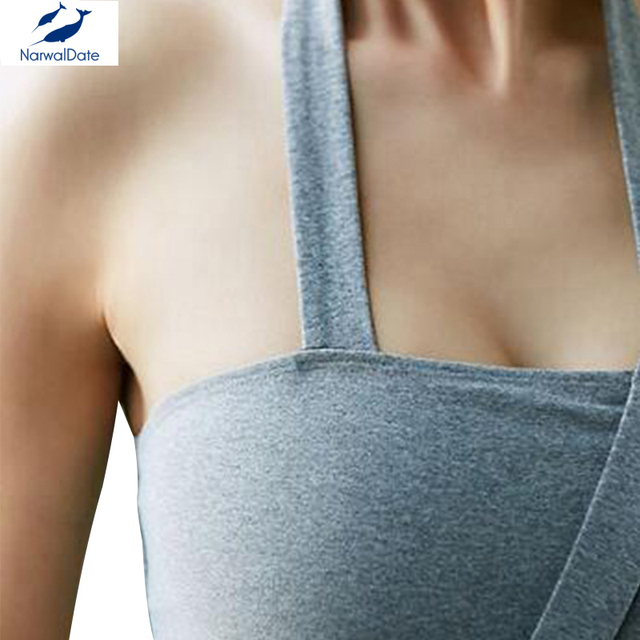 Fitness Yoga Push Up Sports Bra for Womens Gym Running Padded Tank Top Athletic Vest Underwear Shockproof Strappy Sport Bra Top