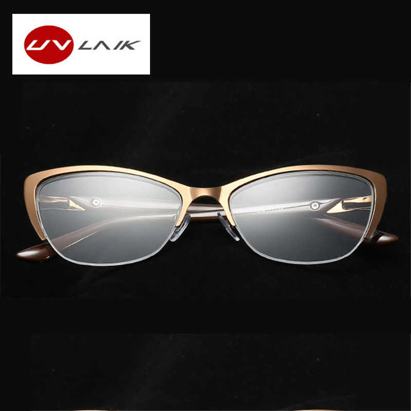 UVLAIK женские кошачий глаз модные очки для чтения оптические очки женские очки для чтения Анти-усталость очки высокого качества металлический каркас