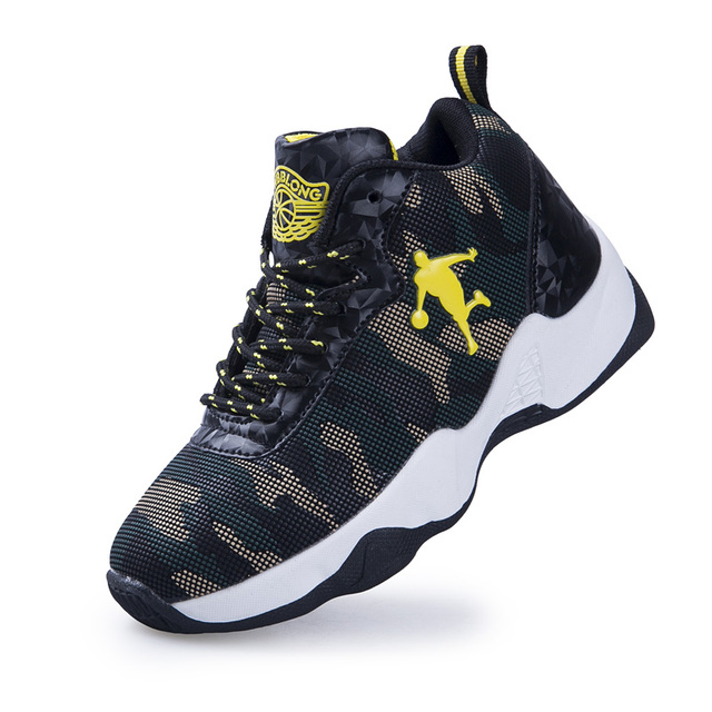 2018 New Style Camouflage Print Kids Basketball Shoes For Boys