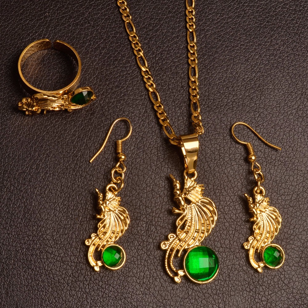 Anniyo bird of paradise pendant necklace earrings rings sets for anniyo bird of paradise pendant necklace earrings rings sets for womenpapua new guinea jewellery png style 097506r in jewelry sets from jewelry aloadofball Images