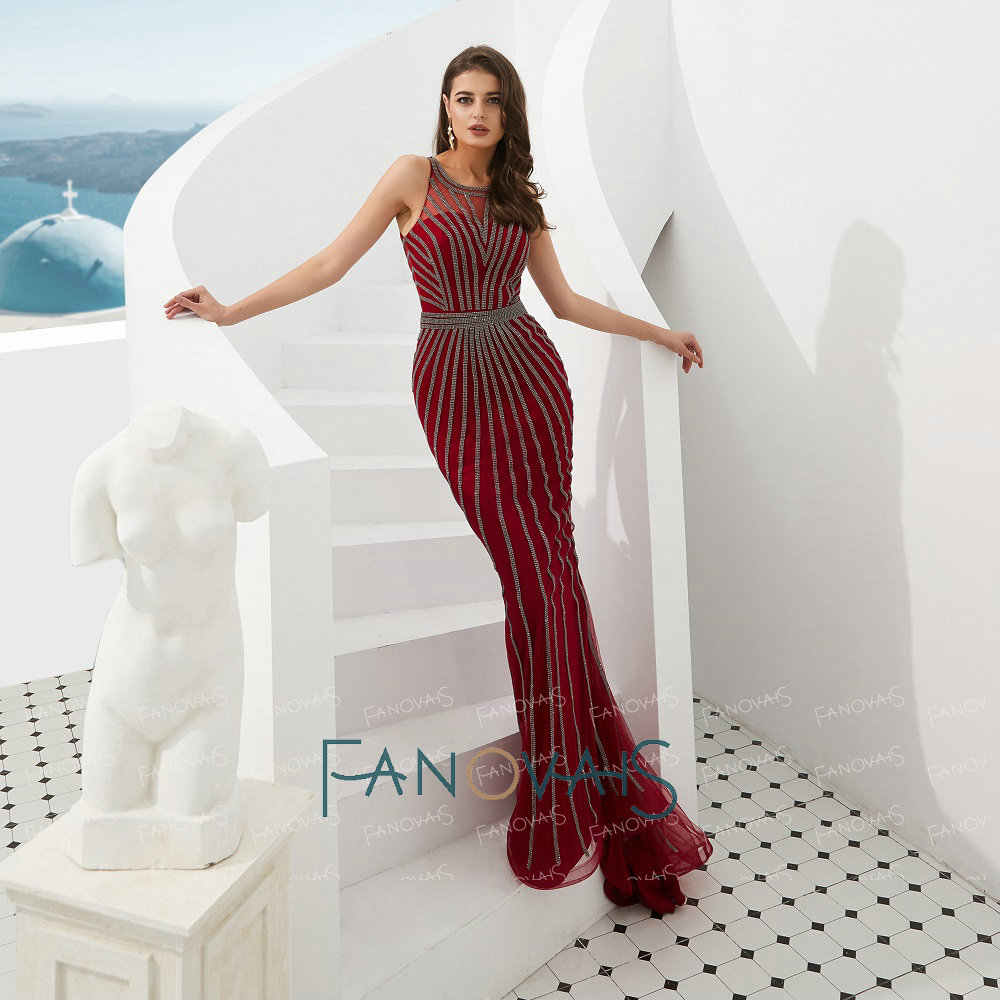 e15d25c3a5d30 Super Star Crystal Charming Evening Dresses Long Evening Gown for Women  Dress Luxury Evening Dress vestidos de fiesta de noche-in  Celebrity-Inspired Dresses ...
