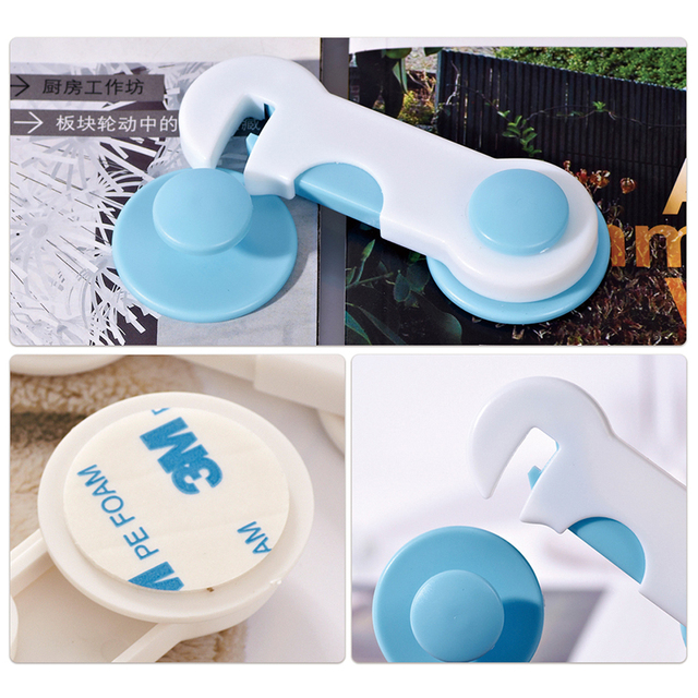4Pcs/Lot Cabinet Lock Straps Baby Safety Protection From Children Safe Locks For Wardrobe Furniture Baby Security Drawer Latches