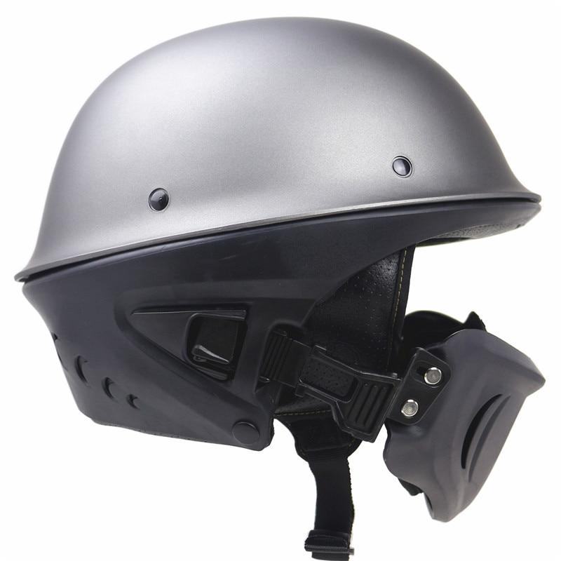 DOT New Arrivew casco de motocicleta cascos de medio rostro de motocicleta con máscara desmontable - 3