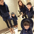 Family fashion clothes for mother and son winter 2016 family matching outfits set 100% cotton thickening sweatshirt set clothes
