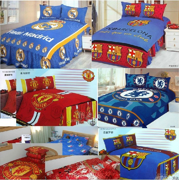 The football souvenirs three-piece bedding/sheet( contant all kinds of football clubs can be Customized)