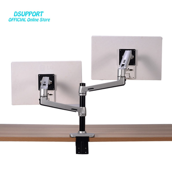 Mechanical Spring Full Motion 17 32inch Dual Monitor Holder Mount Arm Aluminum Monitor Support Max Loading 10kgs Each Arm in TV Mount from Consumer Electronics