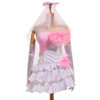 Dama blanca dama de honor wedding dress anime love live kousaka honoka cosplay del partido del desgaste del traje