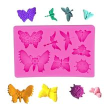 Butterfly Dragonfly Beetle Insect series Patterns Silica gel Sugar molds Diy Chocolate Cake Decorative Baking Tool
