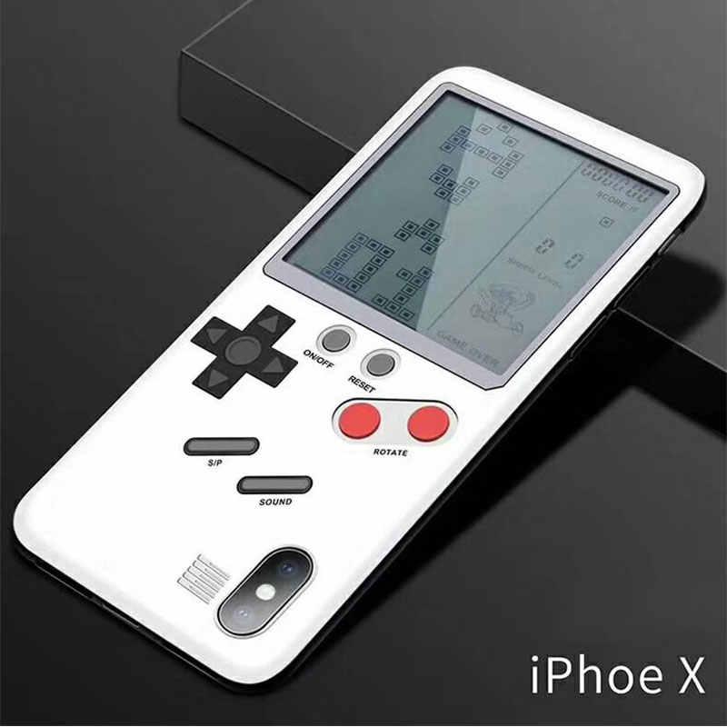 Ретро играть в тетрис GameBoy чехол для телефона для Apple iPhone X iPhone 6 6s плюс 7 8 плюс Чехол Коке Game boy подарок для ребенка
